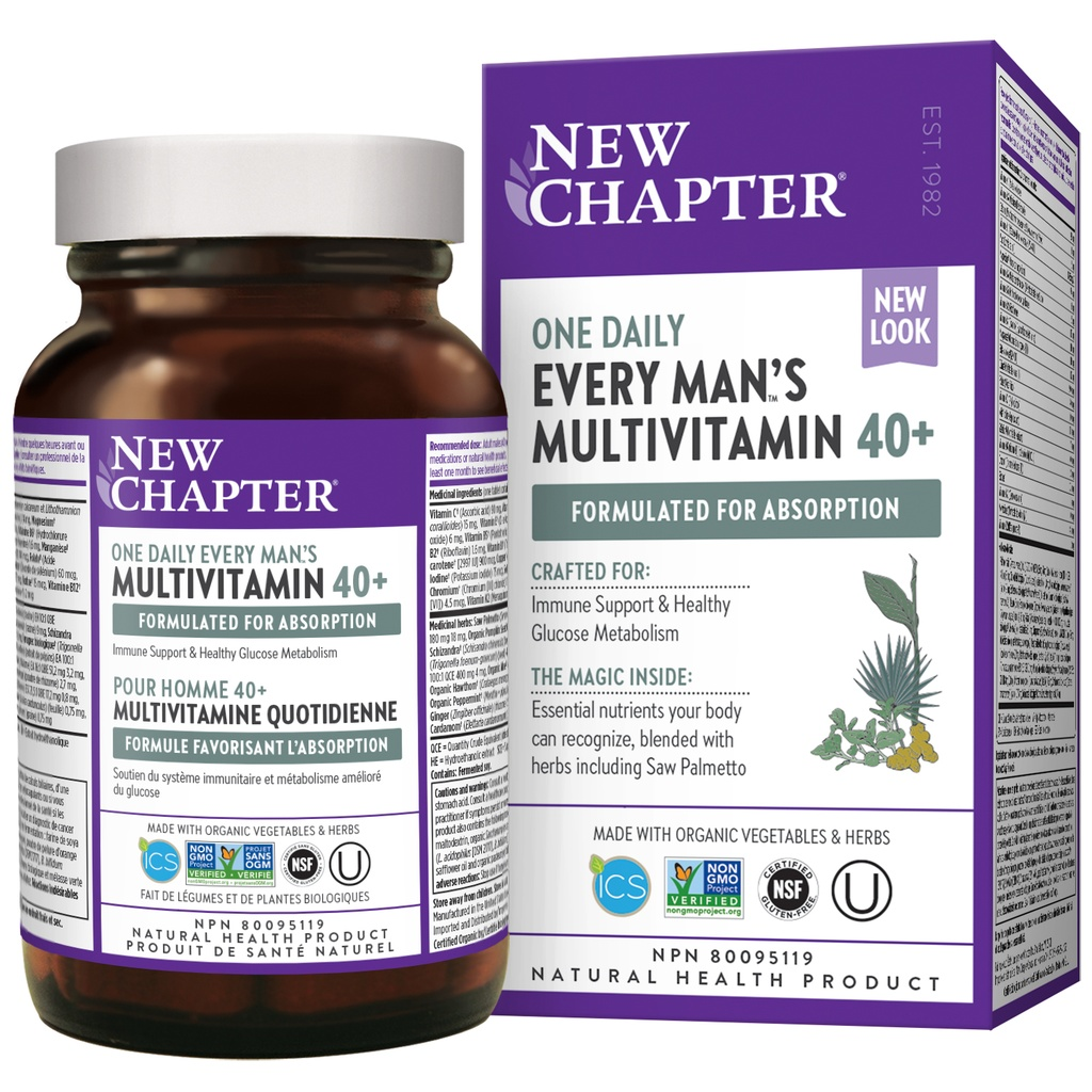 40+ Every Man's One Daily Multivitamin - 72 tablets