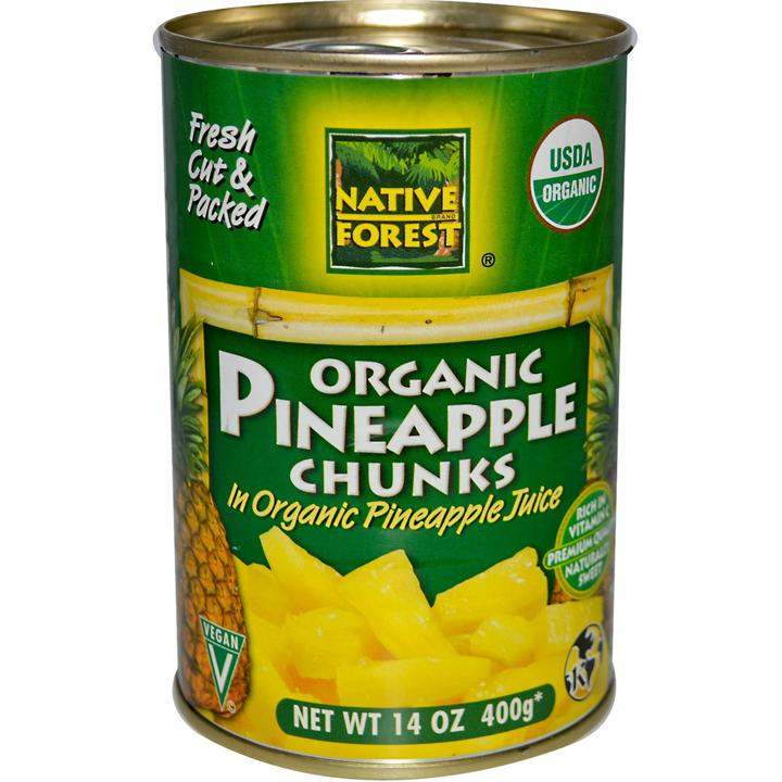 100% Organic Pineapple Chunks - 400 g