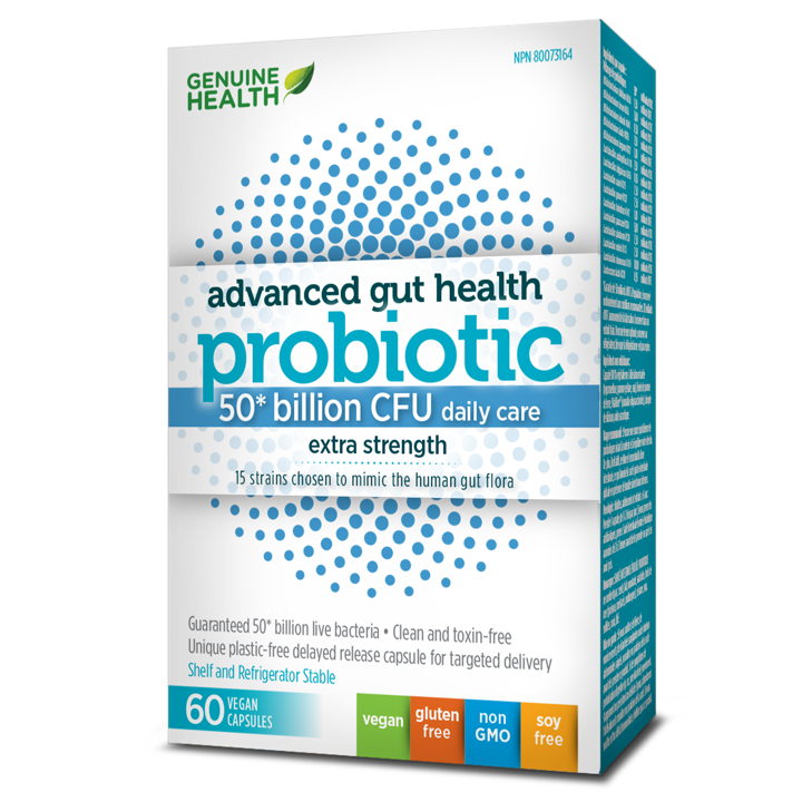 Advanced Gut Health Probiotic - 50 Billion - 60 capsules